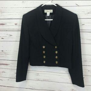 Vintage Christian Dior cropped wool blazer